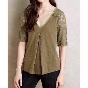 Anthropologie {Meadow Rue} Lace detailed top